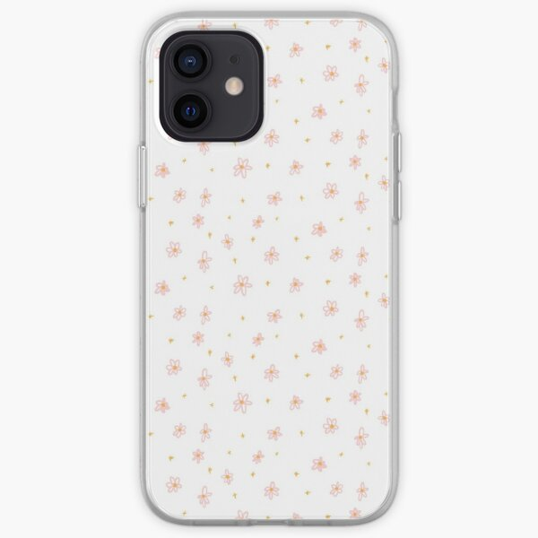 pink and yellow daisy doodles iPhone Soft Case