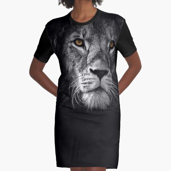 Lion Face Maks Vestido camiseta