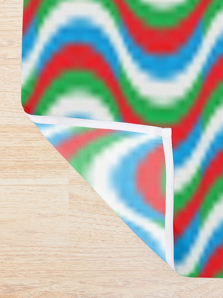 Alternate view of Psychedelic Waves Shower Curtain
