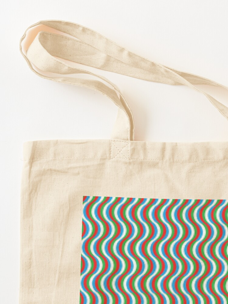 Alternate view of Psychedelic Waves Tote Bag