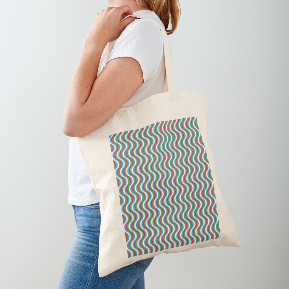 Psychedelic Waves Tote Bag