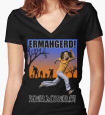 Ermahgerd! Zermbers! Women's Fitted V-Neck T-Shirt
