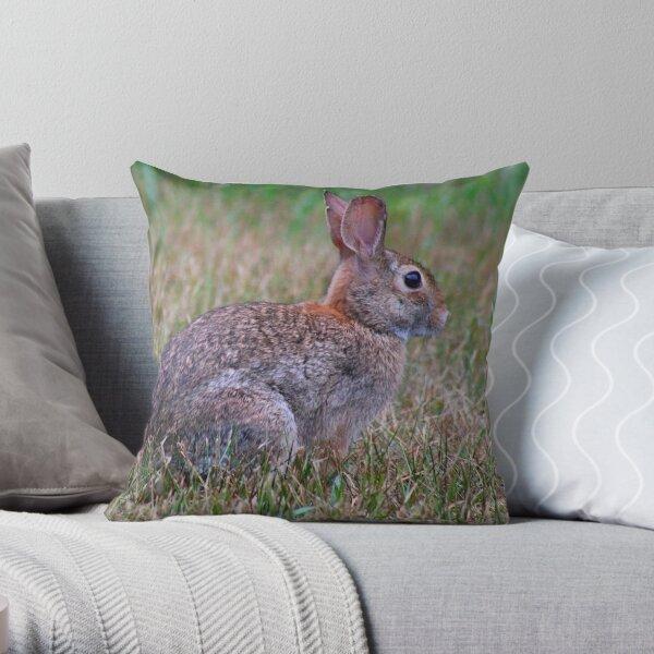 Cottontail Bunny Rabbit Throw Pillow