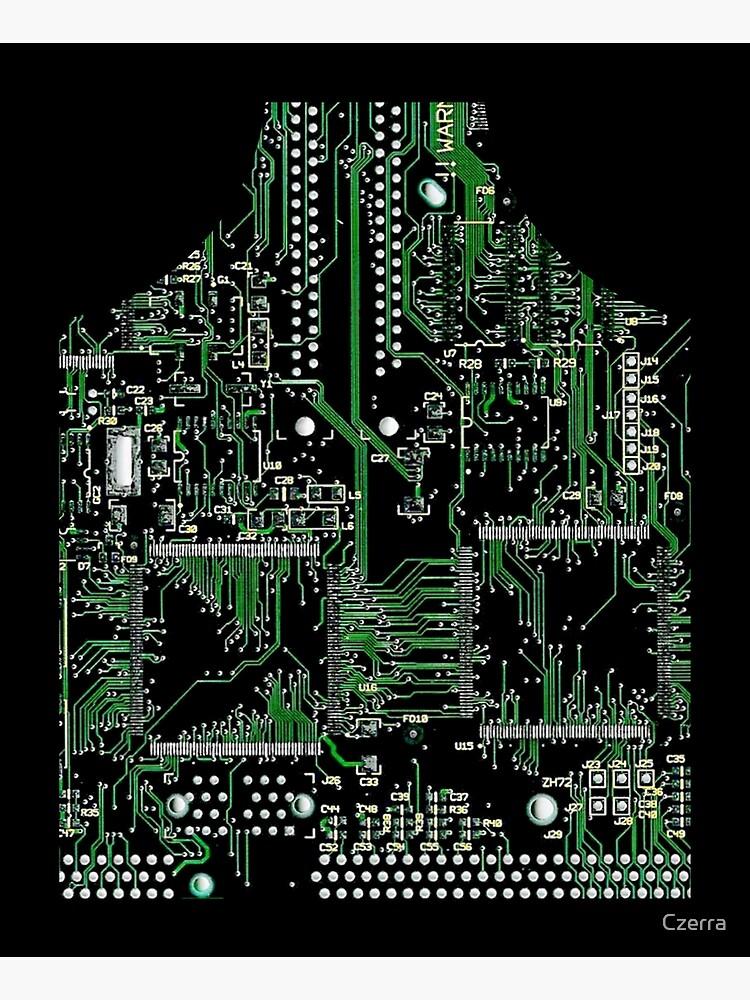 Circuit Board Green by Czerra