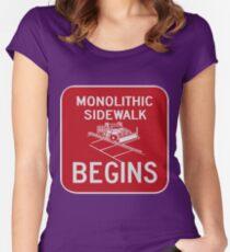 Monolithic Sidewalk Begins Women's Fitted Scoop T-Shirt