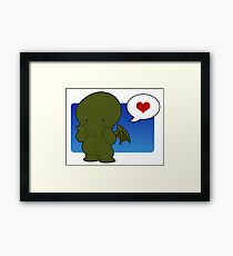Cute-thulhu Framed Print