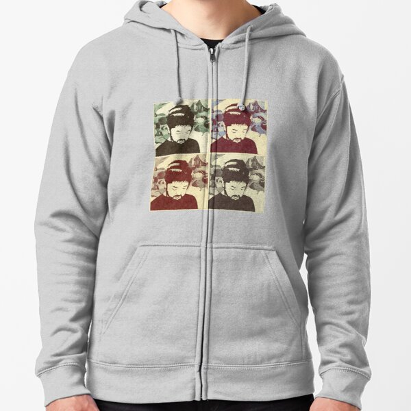Nujabes Embroidered pullover Hoodie fleeces  japanese seba jun fat jon