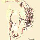 Horse Study 1 by Dawn B Davies-McIninch