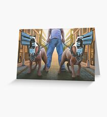 Snub-Nosed Terriers Greeting Card