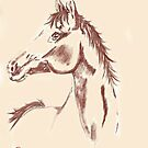 Horse Study 2 by Dawn B Davies-McIninch