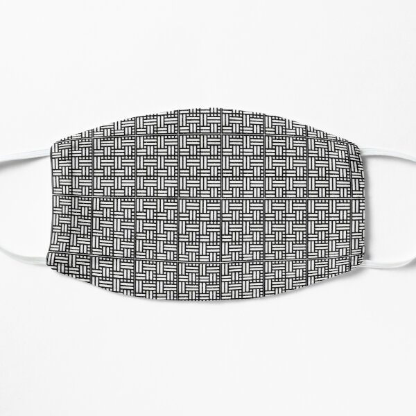 Basketweave black and white pattern Mask