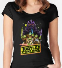 Turtles Strike Back Women's Fitted Scoop T-Shirt