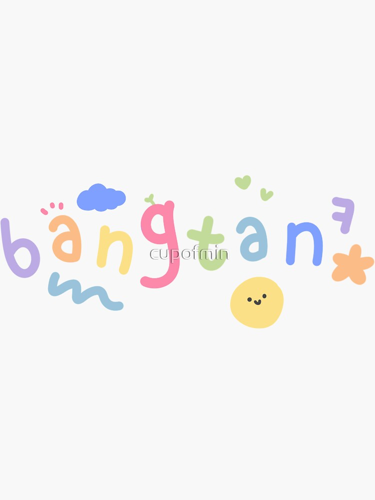 ♡ BTS 'BANGTAN' with cute doodles ♡  (Sticker, mask...) by cupofmin