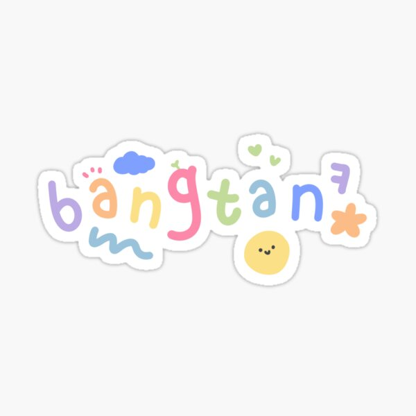♡ BTS 'BANGTAN' with cute doodles ♡  (Sticker, mask...) Sticker