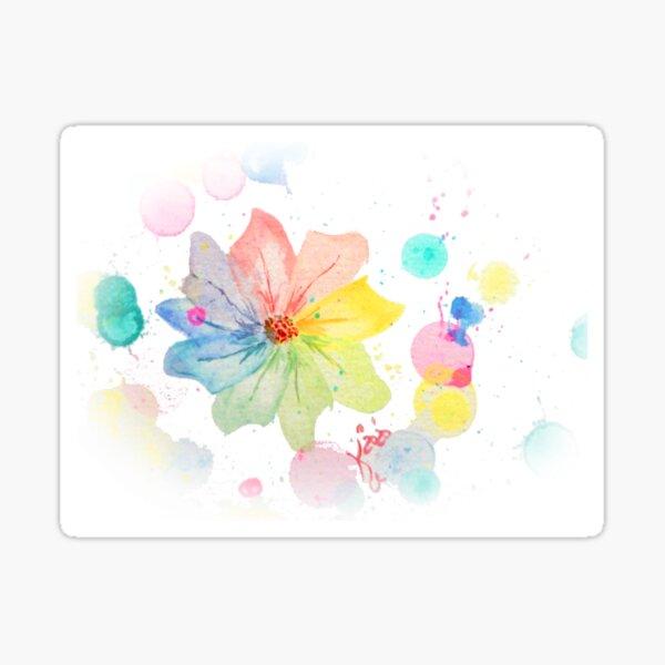 Regenbogenblume Sticker