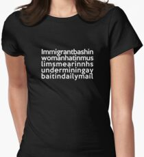 Pepsi-inspired t-shirt, with quote courtesy of Mehdi Hasan on BBC Question Time Womens Fitted T-Shirt