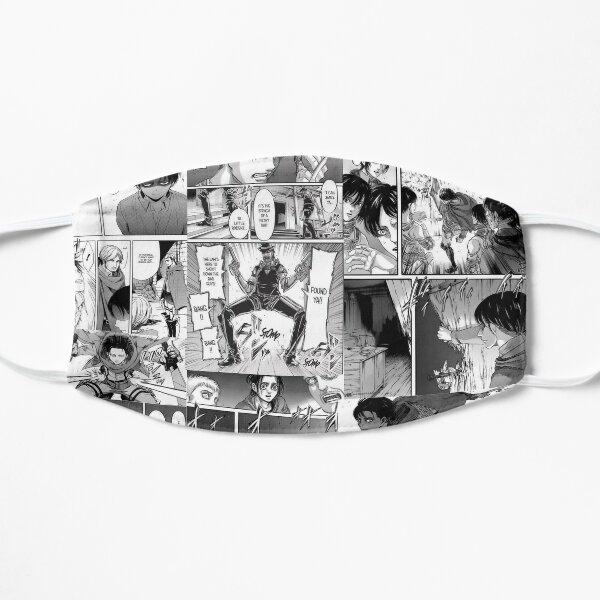 Levi Ackerman Manga panel Flat Mask