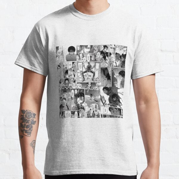 Panneau du manga Levi Ackerman T-shirt classique