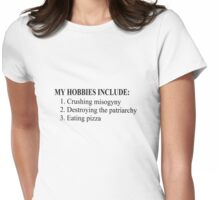 Hobbies of a Feminist Womens Fitted T-Shirt