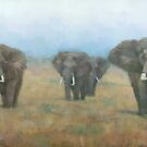 Kenyan Elephants by Stephen Mitchell
