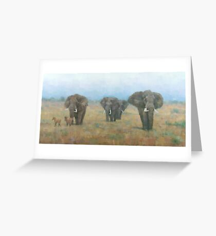 Kenyan Elephants Greeting Card