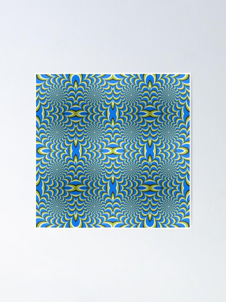 Alternate view of  Pixers Optical illusion ellipse swirl Poster
