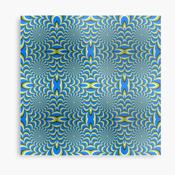 Pixers Optical illusion ellipse swirl Metal Print