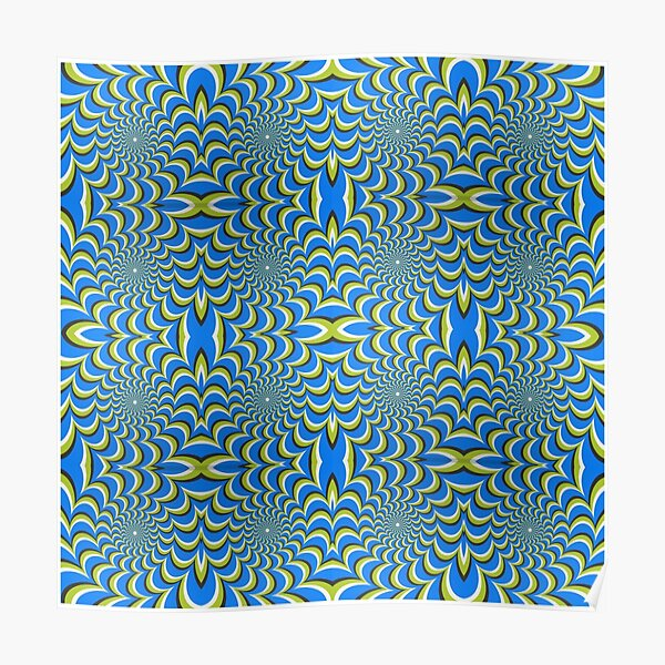 Pixers Optical illusion ellipse swirl Poster