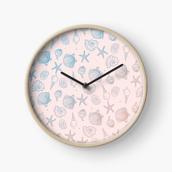 Coquillages à motifs Horloge