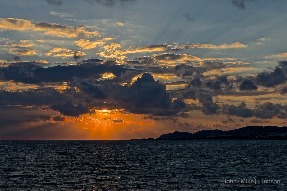 Sunset In Crete by John (Mike)  Dobson
