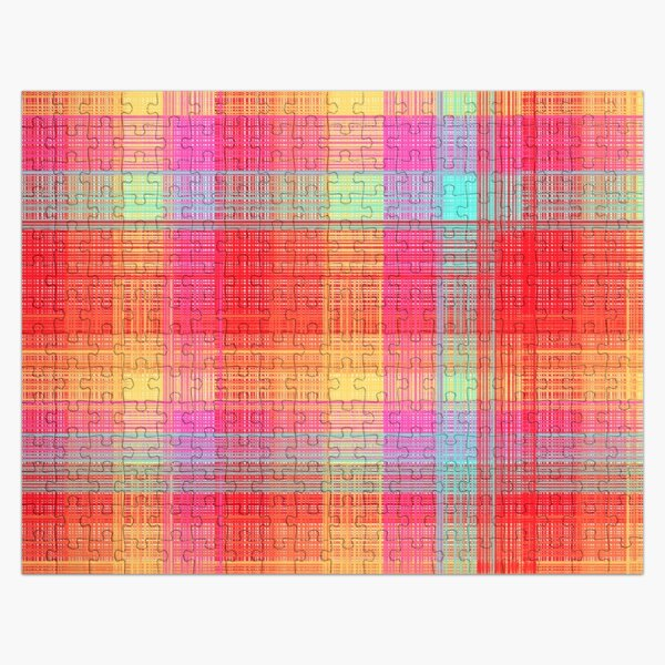 Colorful Plaid Jigsaw Puzzle