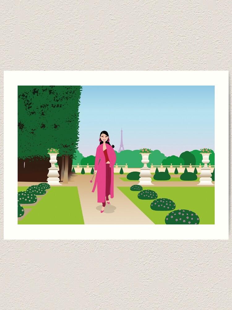 Impression artistique ''Paris : jardin du Luxembourg': autre vue