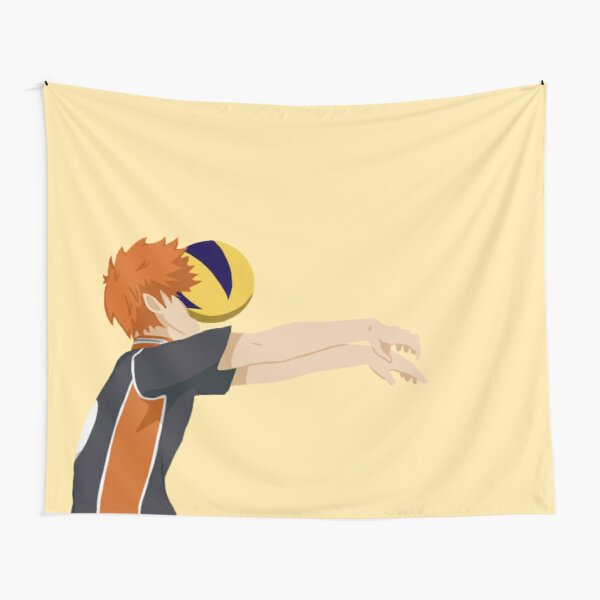 Hinata Shoyo getting hit with a volleyball minimalist Tapestry