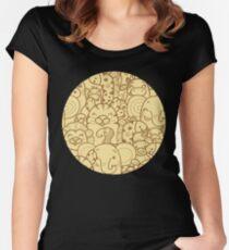 Wild animals pattern Women's Fitted Scoop T-Shirt