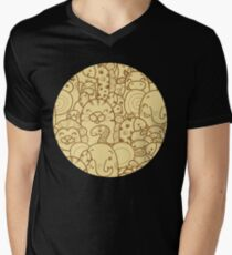 Wild animals pattern Men's V-Neck T-Shirt