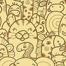 Wild animals pattern by oksancia