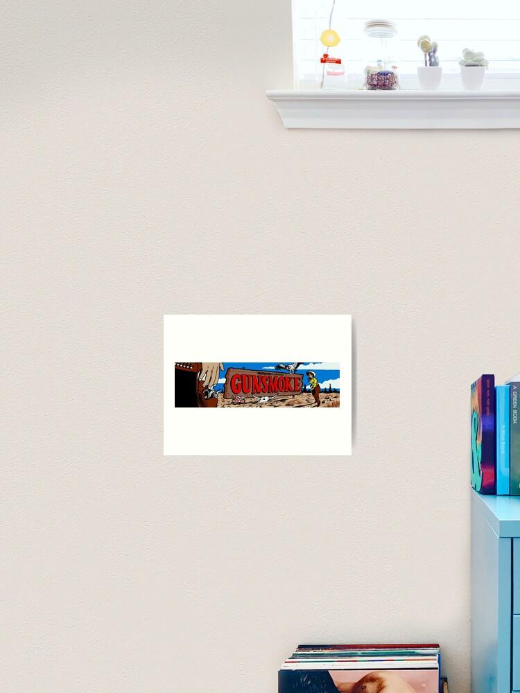 Gunsmoke Arcade Art Print By Rogermooze Redbubble