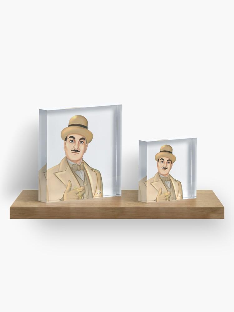Alternate view of Inspector Hercule Poirot Famous Cozy Murder Mystery Sleuths and Detectives Acrylic Block