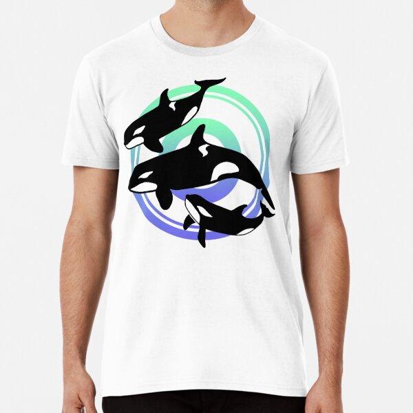Swimming Orca Whales design Premium T-Shirt