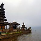 Temple on the lake by Mark Walker