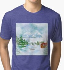 Winter Christmas & New Year Tri-blend T-Shirt