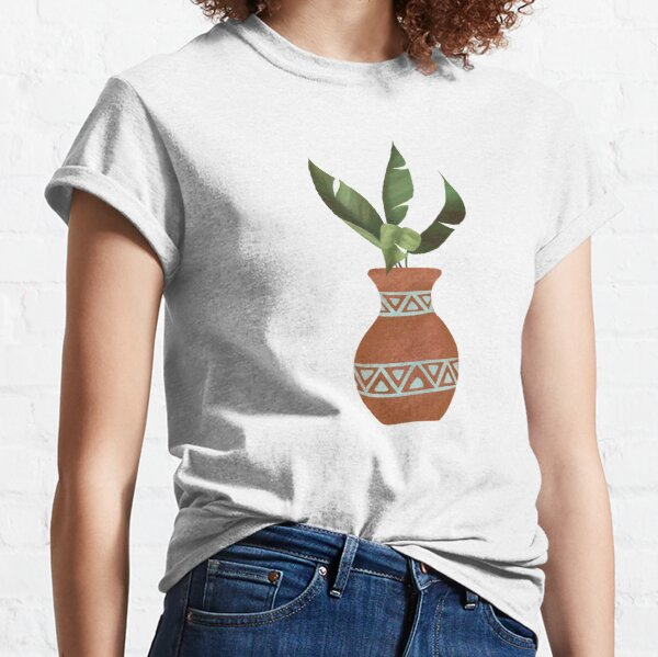 Banana Leave in Terracotta Pot Classic T-Shirt