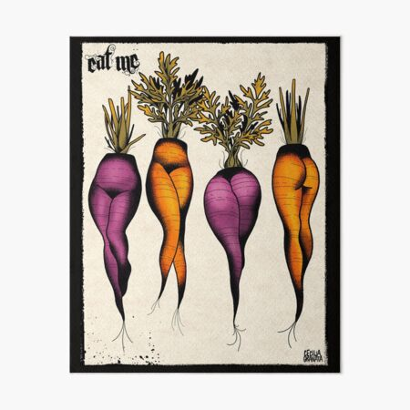 Sexy carrots botanical chart tattoo flash Art Board Print
