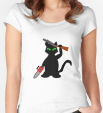 Kitty of Darkness Women's Fitted Scoop T-Shirt