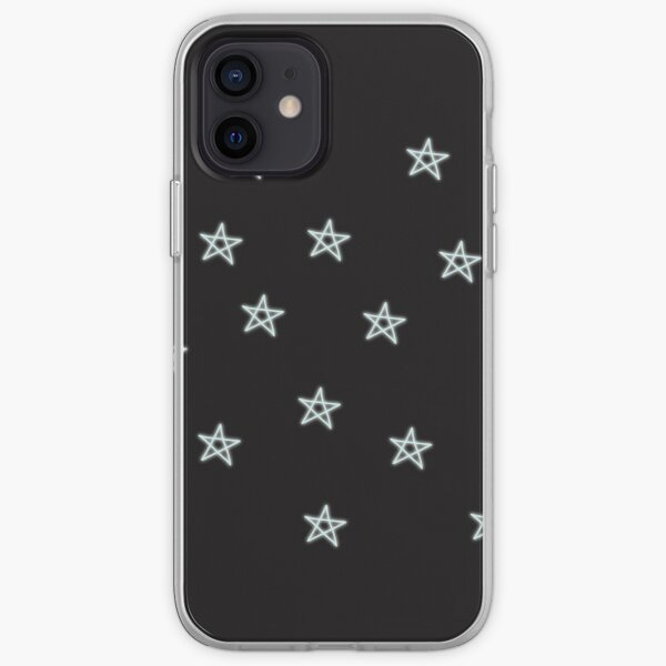 Neon Blue Stars iPhone Soft Case