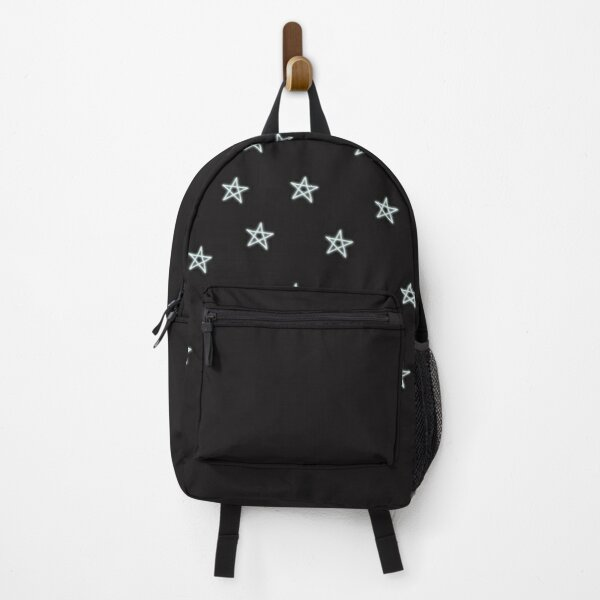 Neon Blue Stars Backpack