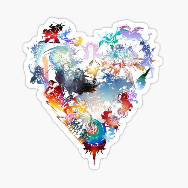 Final Fantasy All Games Love - Final Fantasy Lovers Sticker