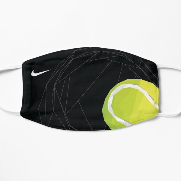 Tennis ball triangle art mask Flat Mask