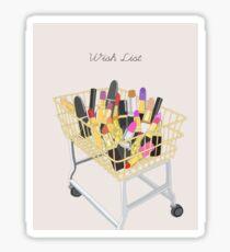 Wish List Sticker
