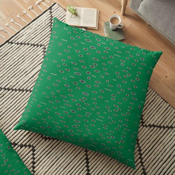Omni dots green black pattern DOTS05   Floor Pillow